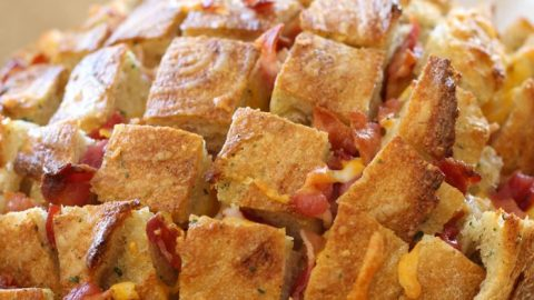 Cheesy Bacon Ranch Chicken Pull Apart Bread