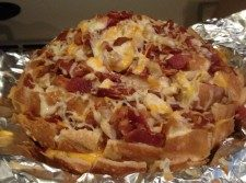 cheesy chicken bacon ranch pull apart bread