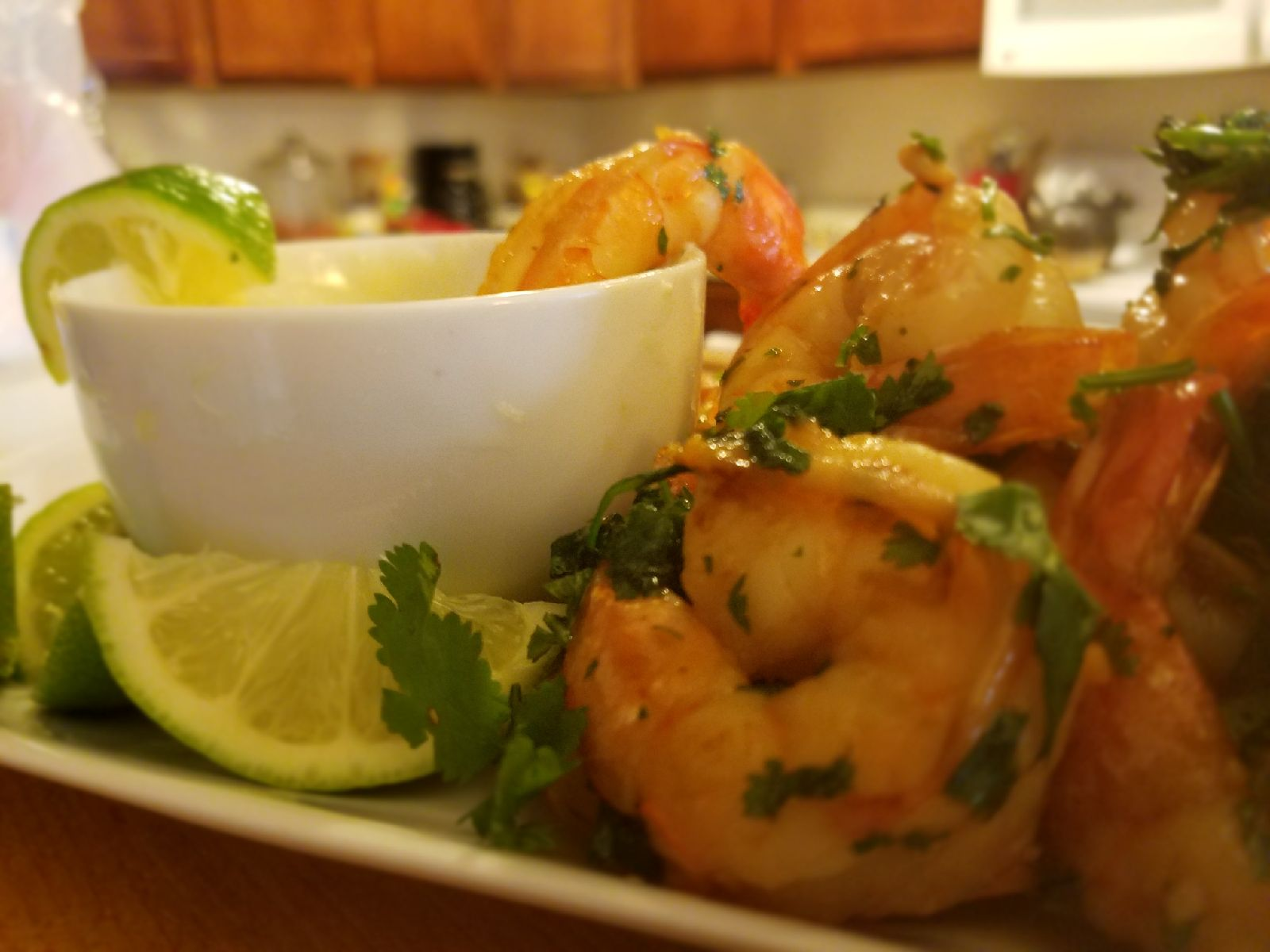 Honey Lime Shrimp with Dipping Sauce