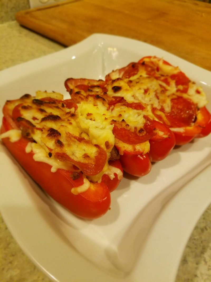 Low Carb Pepper Pizzas